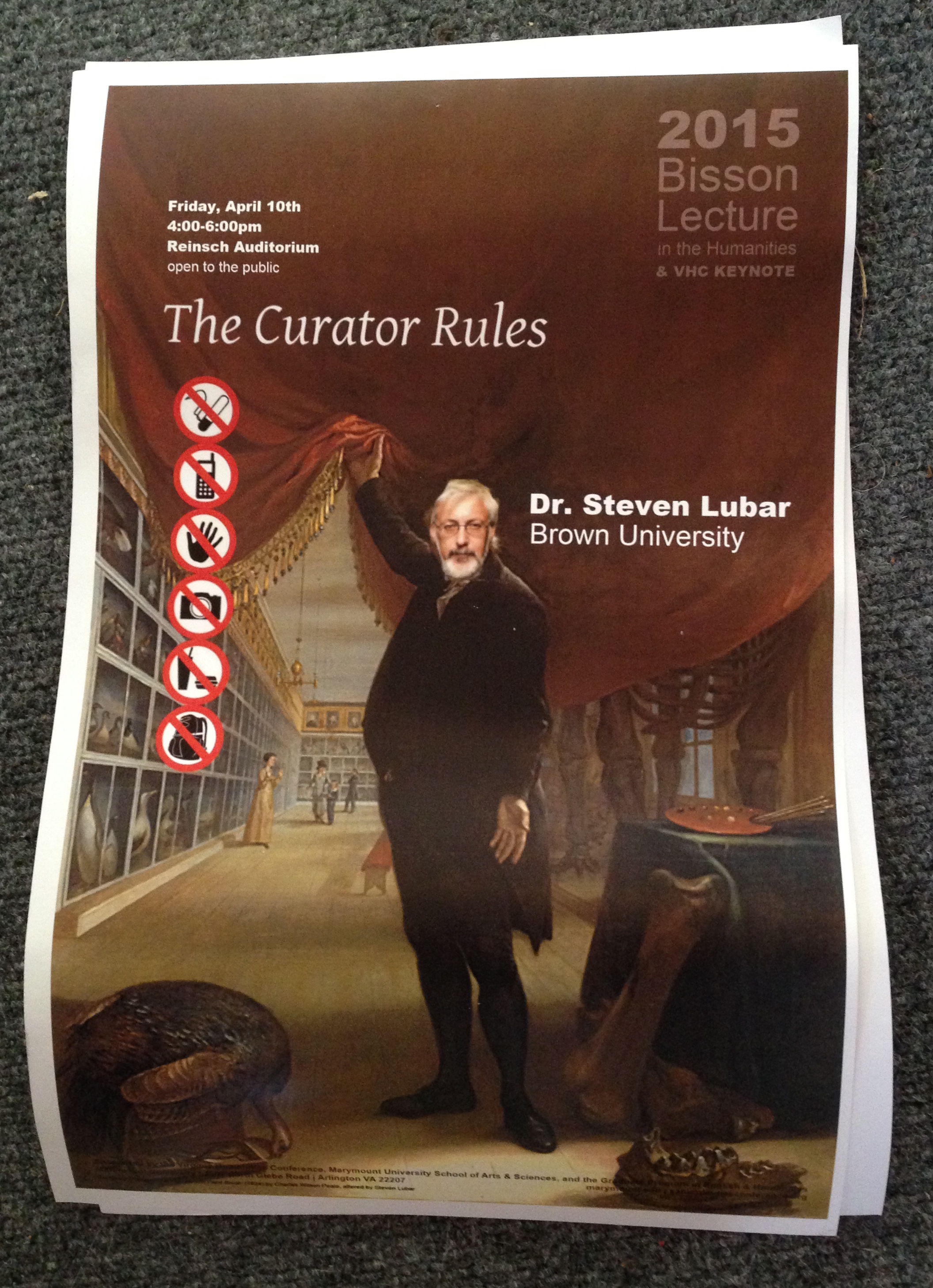 Tonya Howe designed this fine poster. With apologies to Mr. Peale.